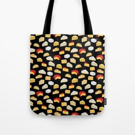 Cheese pattern food fight apparel and gifts Tote Bag