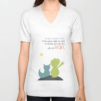 le petit prince V-neck T-shirts featuring LE PETIT PRINCE -the little prince- by Chara Anagnostopoulou
