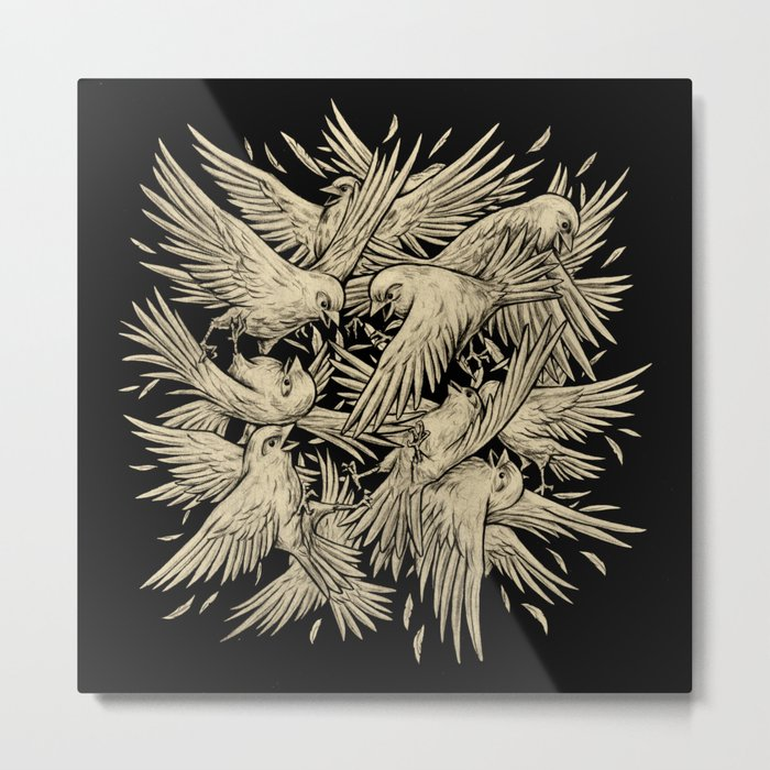 Birdfight Metal Print