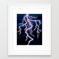 lightning Framed Art Prints featuring lightning by Li-Bro