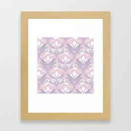 Interwoven XX - Orchid Framed Art Print