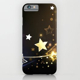 Abstract Background with Contrasting Stars iPhone Case