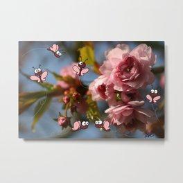 Cherry blossoms - les cerisiers en fleurs - sakura Metal Print