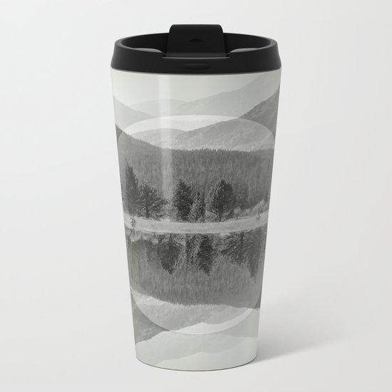 Mountain Mirror BW Metal Travel Mug