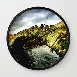 Row Bridge Wall Clock