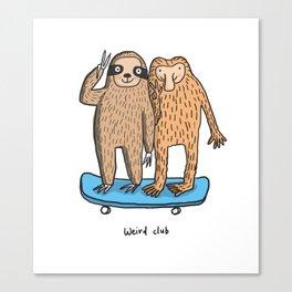 Weird Club Canvas Print