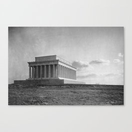 Construction of The Lincoln Memorial (1920) Canvas Print