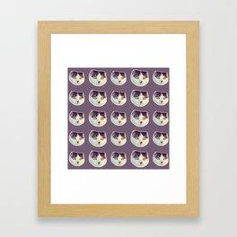 kitson the gangsta cat Framed Art Print