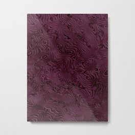 Royal Maroon Silk Moire Pattern Metal Print