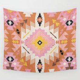 Tribal Kilim Orange Wall Tapestry