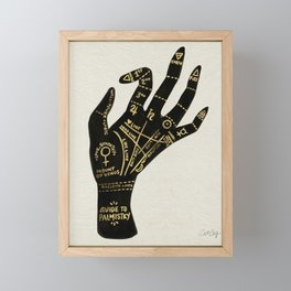 Palmistry Framed Mini Art Print