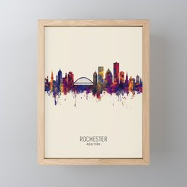 Rochester New York Skyline Framed Mini Art Print