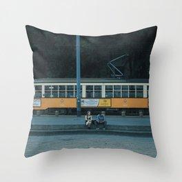 Wrong Stop, Guys Throw Pillow