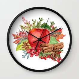 Apple Bouquet Wall Clock
