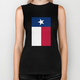 Texan state flag - high quality vertical authentic Version  Biker Tank