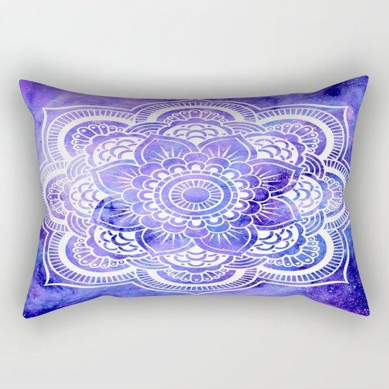 Mandala Violet Blue Galaxy Space Rectangular Pillow