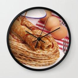 II - Dutch pancakes with syrup or 'pannenkoeken met stroop' Wall Clock