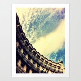 Sky Blue Sky Art Print