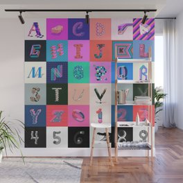 36 Days of Type Wall Mural