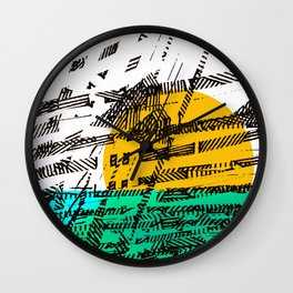 - the sunset - Wall Clock
