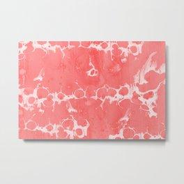 Baesic Wet Paint Pink Metal Print