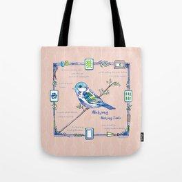 Lovely Sparrow - Mahjong Tote Bag