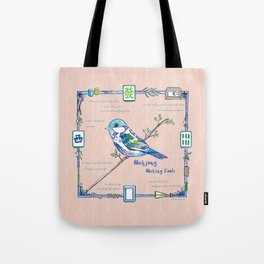 Lovely Sparrow - Mahjong Tote Bag