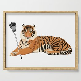 Lacrosse Tiger Serving Tray