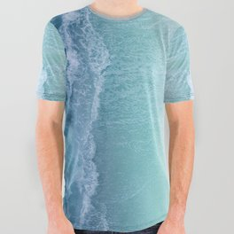 Turquoise Sea All Over Graphic Tee