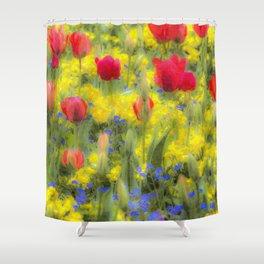 Summer Flowers Art Shower Curtain