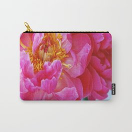Pinkest Peony - Square Print Carry-All Pouch