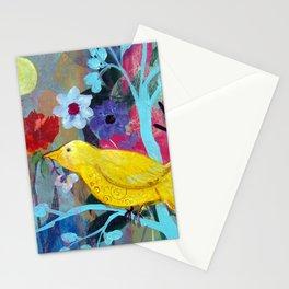 Golden Yellow Bird Stationery Cards