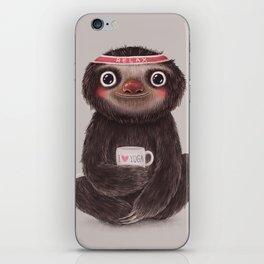 Sloth I♥yoga iPhone Skin