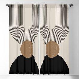 Mid Century Modern Abstract Art 10 Blackout Curtain