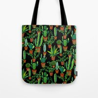 cacti Tote Bags featuring Cacti by Sian Keegan