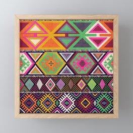 Aztec Artisan Tribal Bright Framed Mini Art Print