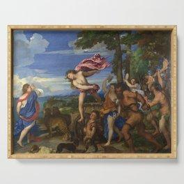 """Titian (Tiziano Vecelli) """"Bacchus and Ariadne"""", 1520-1523 Serving Tray"""
