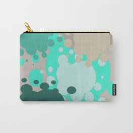 Paint splats in green Carry-All Pouch