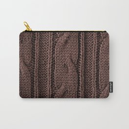 Brown braid jersey cloth texture abstract Carry-All Pouch