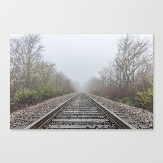 Spring time railroad tracks Canvas Print