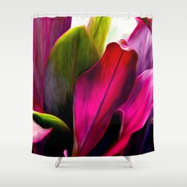 Ti Leaf Bouquet Shower Curtain