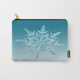 Blue Green Ice Crystal Carry-All Pouch