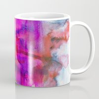 burgundy Mugs featuring Burgundy by Georgiana Paraschiv