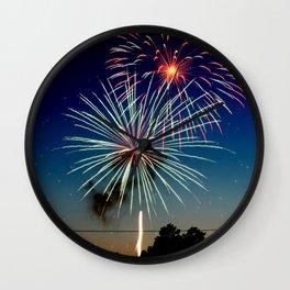 July 4th Fireworks Wall Clock
