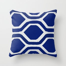 Blue and White and Bold Throw Pillow