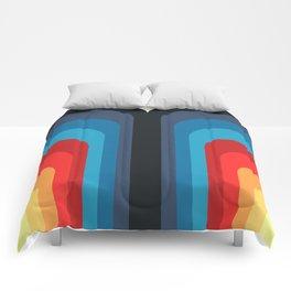 Retro Rainbow 01 Comforters
