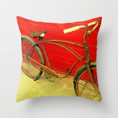 The Old Bike Throw Pillow