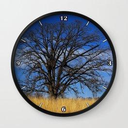 Prairie savanna oak - Savanna in the city Wall Clock