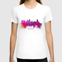 minneapolis T-shirts featuring Minneapolis skyline purple by jbjart