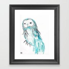 Blue Owl Framed Art Print
